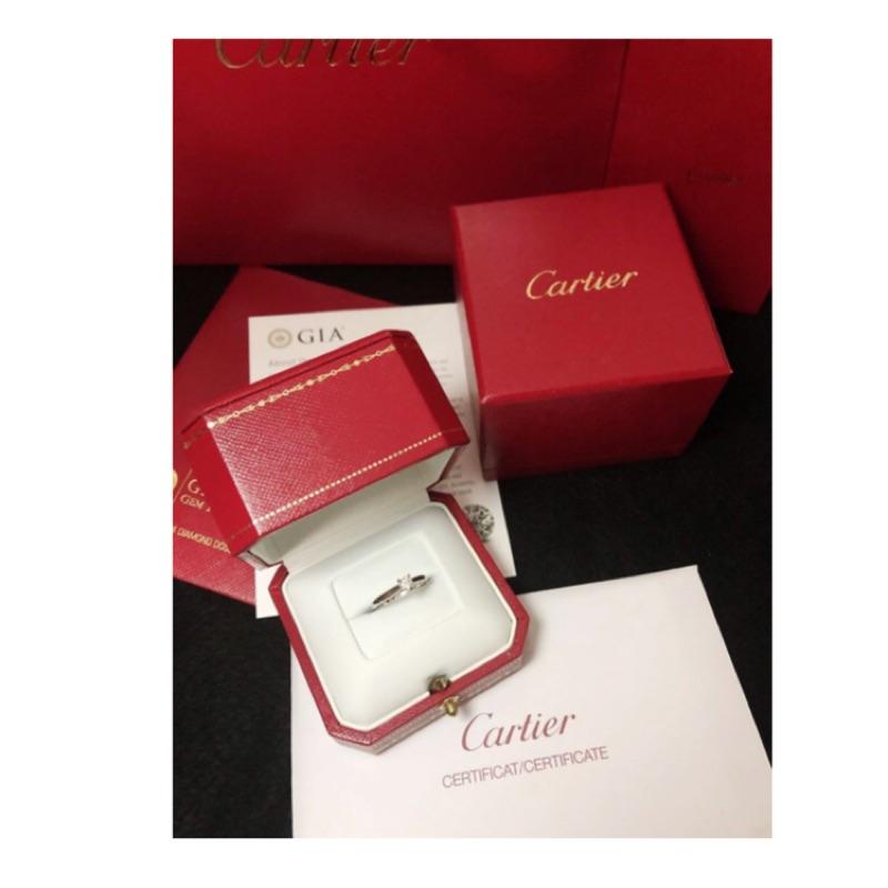 Cartier 卡地亞經典1895系列白金4爪鑽石婚戒 全新代售