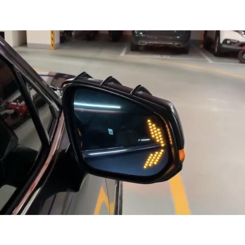 豐田 RAV4五代 19-21年/Corolla Cross#改裝後視鏡藍片/白片 LED流水鏡片盲點 帶跑馬箭頭轉向燈