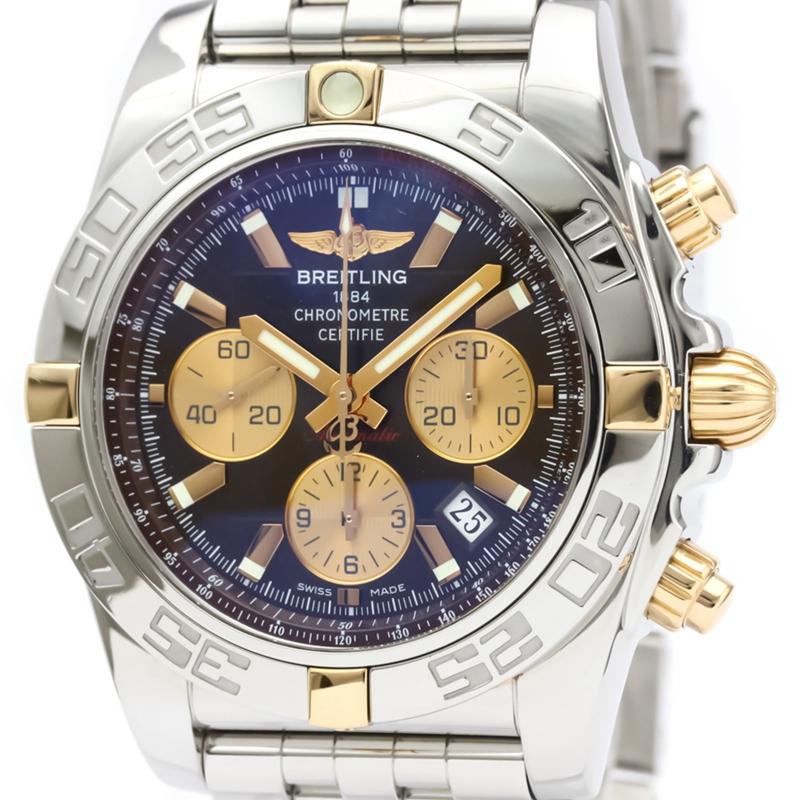◤奢侈手錶◢Breitling百年靈18K黃金男錶自動機械IB0110二手錶瑞士原裝正品