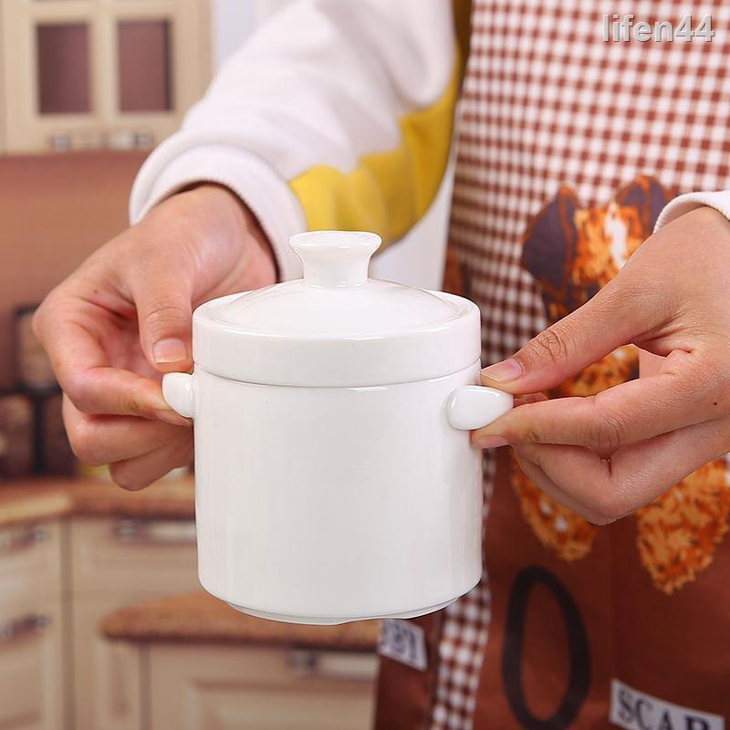1230❂陶瓷隔水燉盅帶蓋雙蓋雙耳燉燕窩盅蒸蛋盅燉罐家用小湯盅燉盅碗