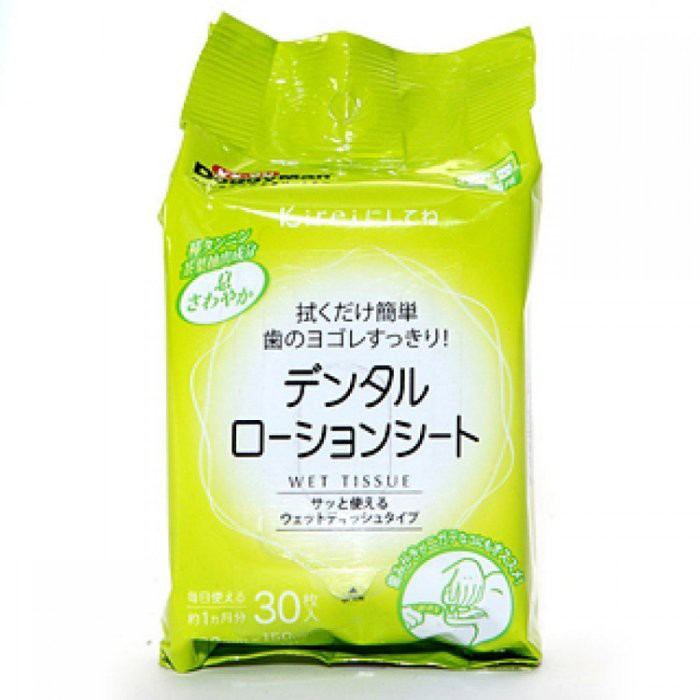 日本Doggyman-簡約生活系列犬貓 /牙齒清潔紙巾 30枚入(濕紙巾簡單抽取/牙齒清潔方便快速)『WANG』