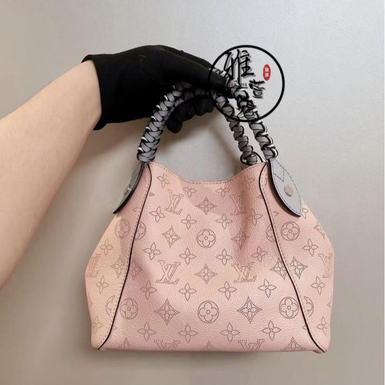 雅萱二手 LOUIS VUITTON(路易威登) LV HINA小號手袋鏤空編織水桶包手提托特包購物袋M54353
