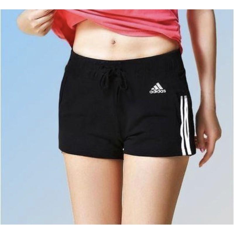 ☄️總哥特賣☄️ Adidas BR5963 三線 短褲 黑白 運動 女 愛迪達 三線 三條線 棉 運動 短褲 小熱