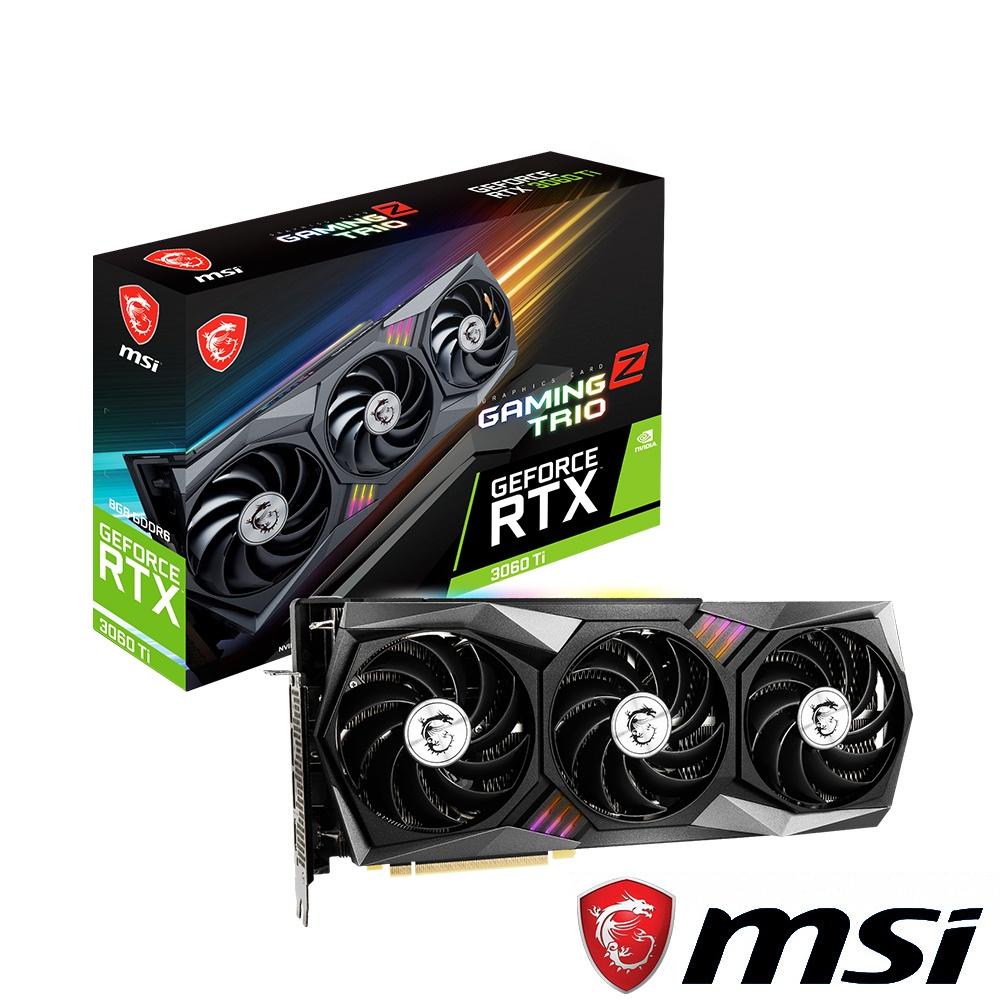 【現貨鎖算力】MSI 微星 RTX 3060 Ti GAMING Z TRIO 8G LHR 顯示卡 RTX3060TI