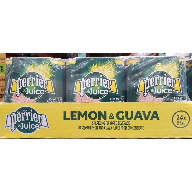 【小如的店】好市多代購~法國進口 Perrier 沛綠雅 檸檬芭樂氣泡果汁(250ml*24瓶)易開罐 344057