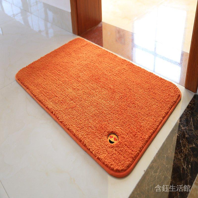 大定做綠色防滑金黃色純色地墊門墊定製風水  客廳 橙色吸水地毯 YgOE
