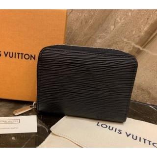 【小丫頭二手】Louis Vuitton LV M60152 M60383黑色/ 紫紅 EPI 水波紋 拉鍊零錢包 超讚 新竹市