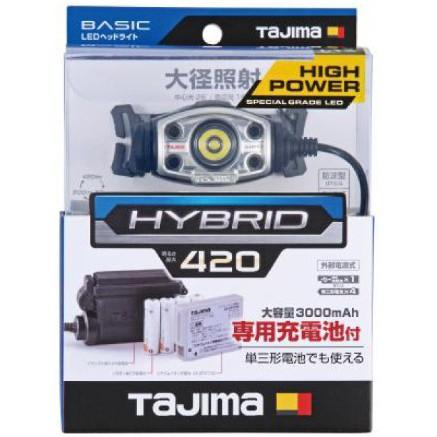 [士東工具]TAJIMA田島 頭燈 LE-E421D-SP (420流明)可充電、可用乾電池