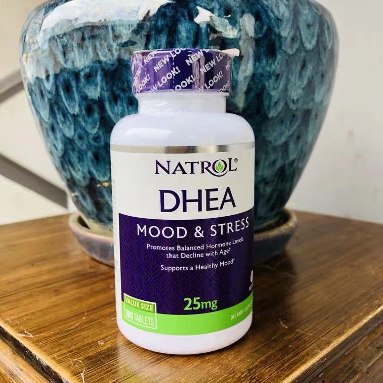 美國Natrol DHEA脫氫表雄酮片25毫克300片青春素卵巢素保養備孕