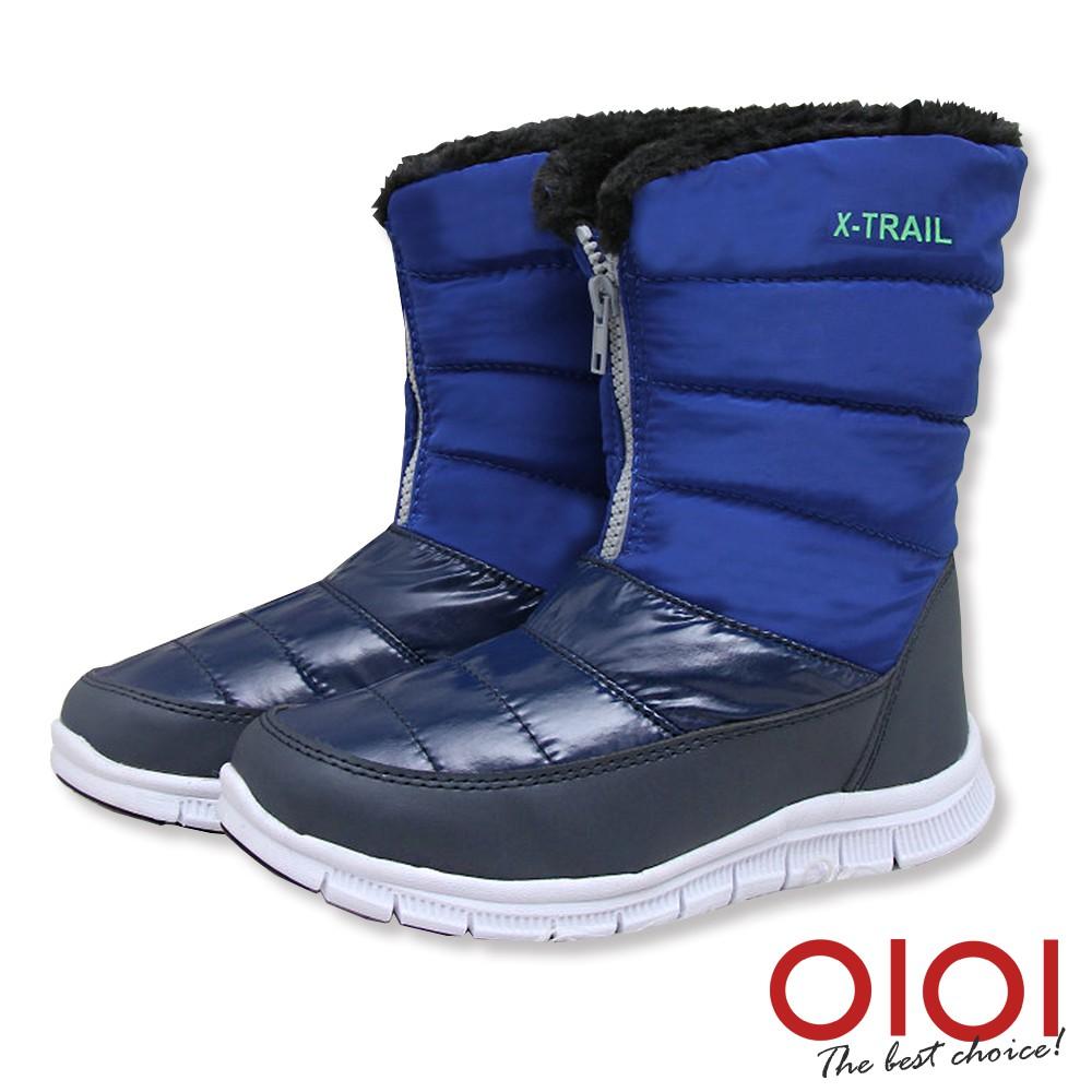 【0101shoes】中筒靴 自在個性輕量防潑水中筒雪靴(藍)【18-M916】【現貨】