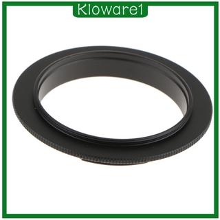 CANON [Kloware1] 佳能 Eos Ef 1000d 60d 7d 的 52mm 微距鏡頭倒車反環適配器