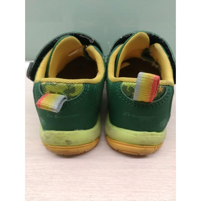 moonstar 男童 綠色布鞋運動鞋15號