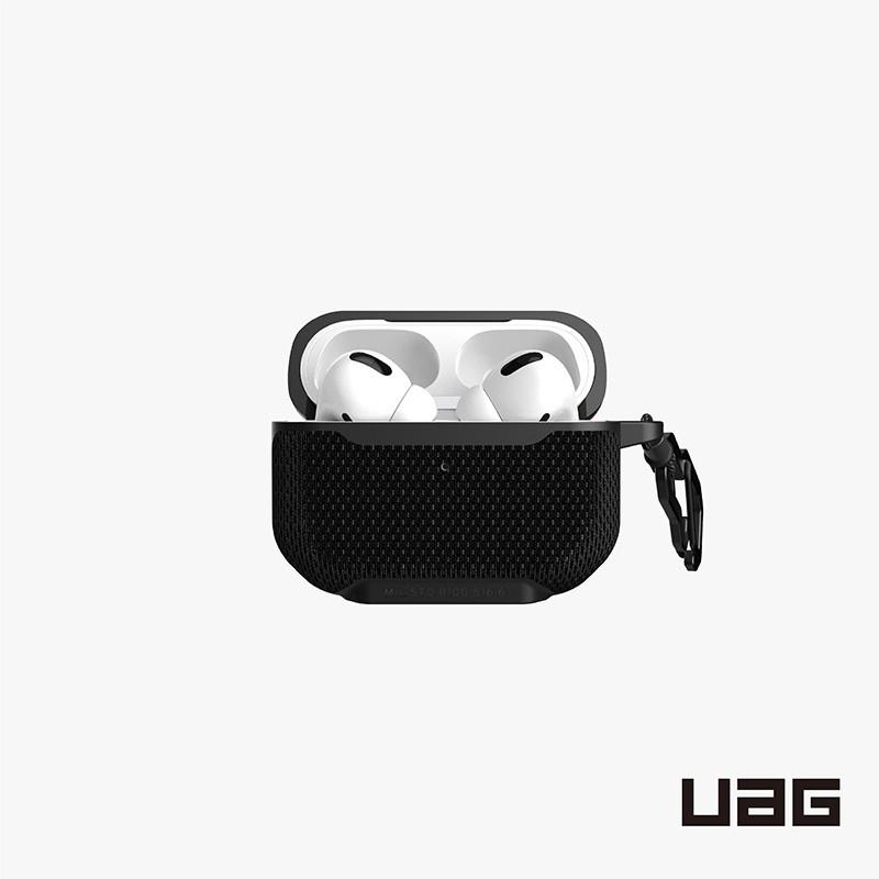 【UAG】AirPods Pro 耐衝擊保護殼-軍用黑