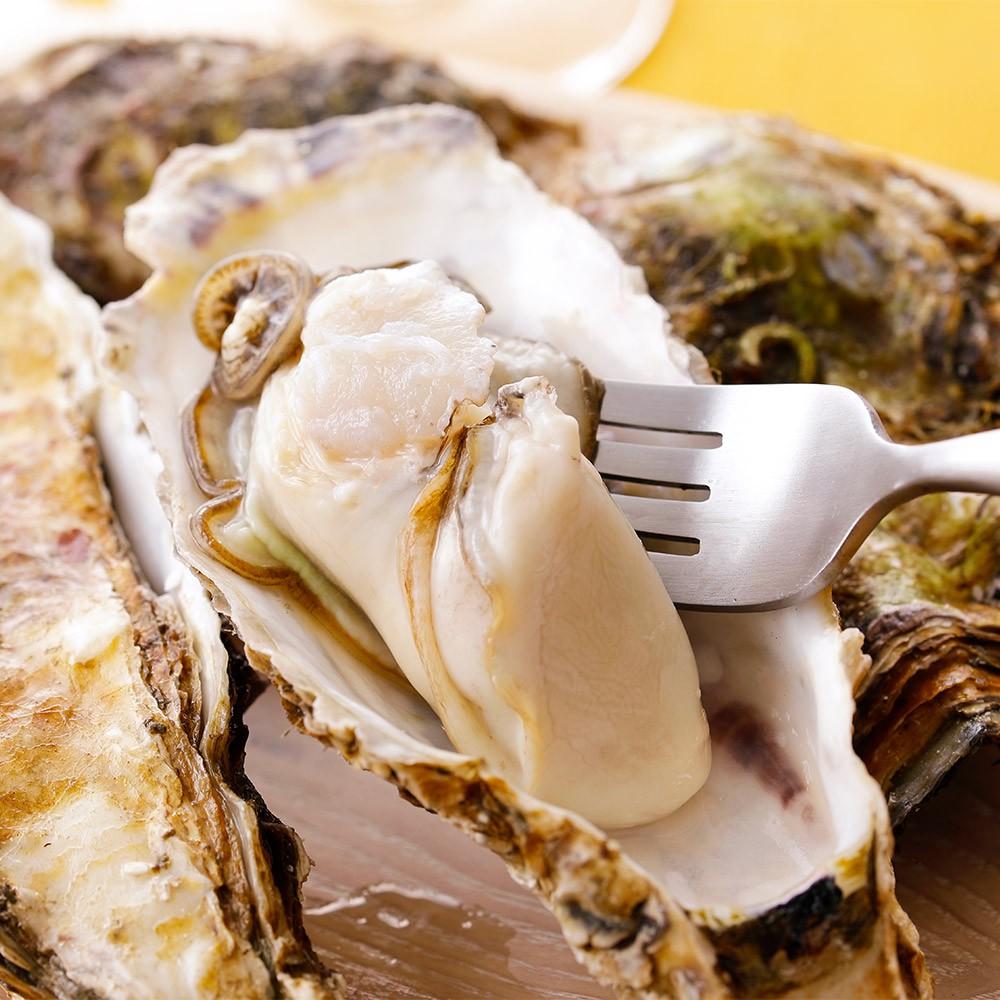 【上野物產】年菜 日本超大顆帶殼牡蠣 (180g)顆