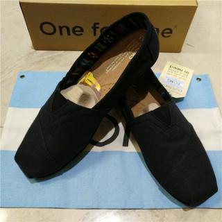 TOMS 夏季男女布鞋 懶人一腳蹬 休閒低筒鞋帆布鞋