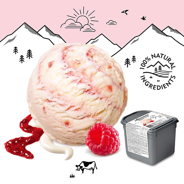 Movenpick 莫凡彼冰淇淋 覆盆子奶酪 2.4L家庭號