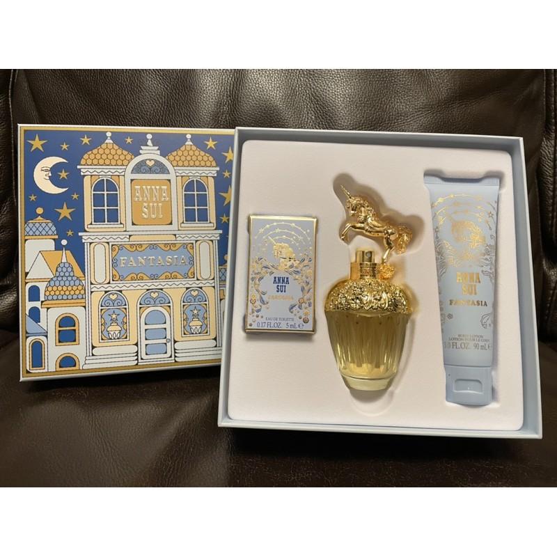 (法意公司貨)Anna Sui  安娜蘇獨角獸城堡假期禮盒 淡香水50ML+身體乳90ML+小香5ML