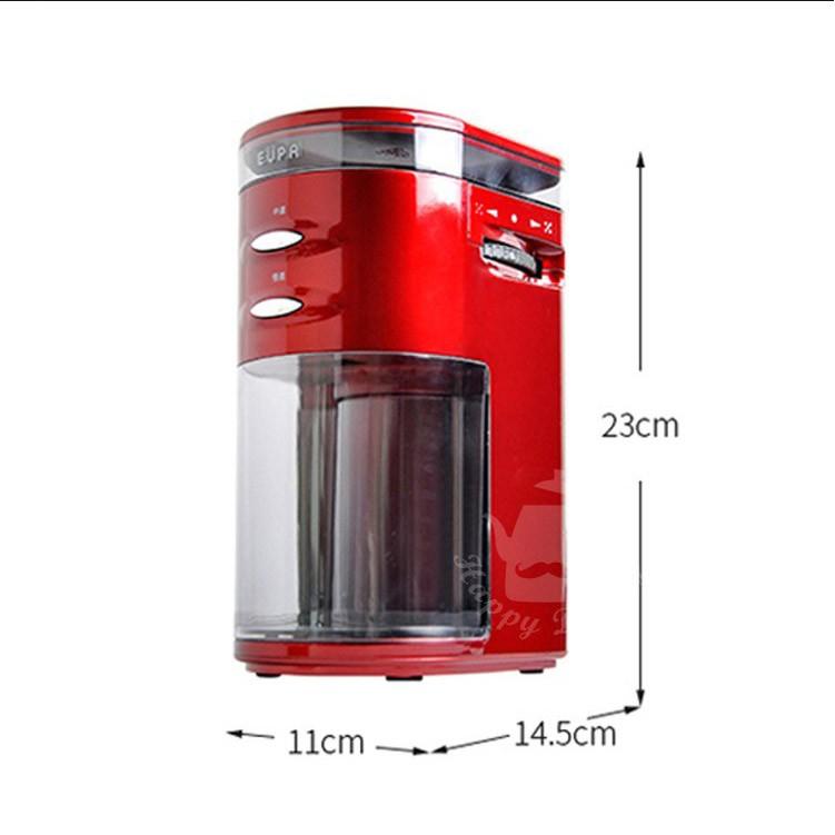 【優柏EUPA】電動咖啡磨豆機(粗細可調整)TSK-9272P咖啡豆磨粉機 電動打粉機 家用小型干磨機 五谷雜糧研磨機
