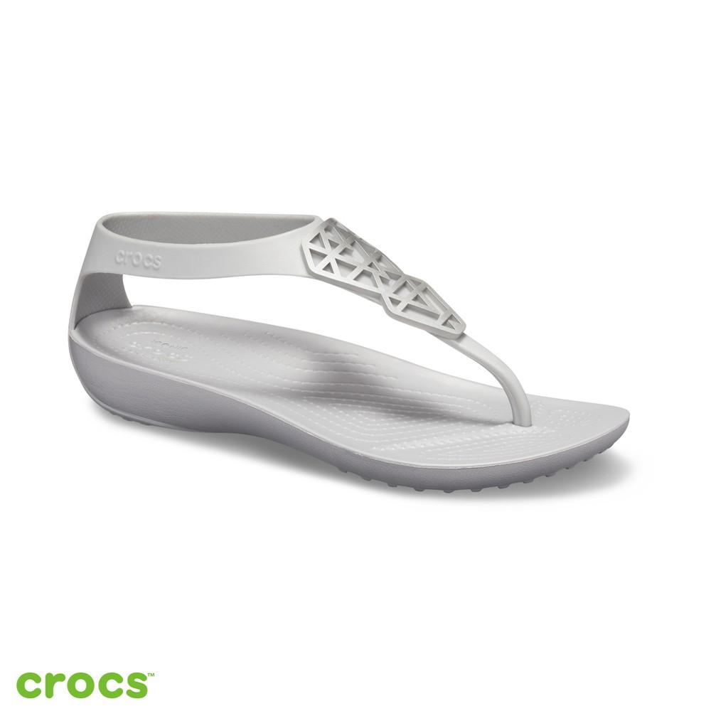 Crocs卡駱馳 (女鞋) 瑟琳娜造型人字涼鞋-205600-00N