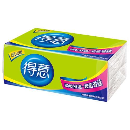 得意 超值 抽取式衛生紙 150抽