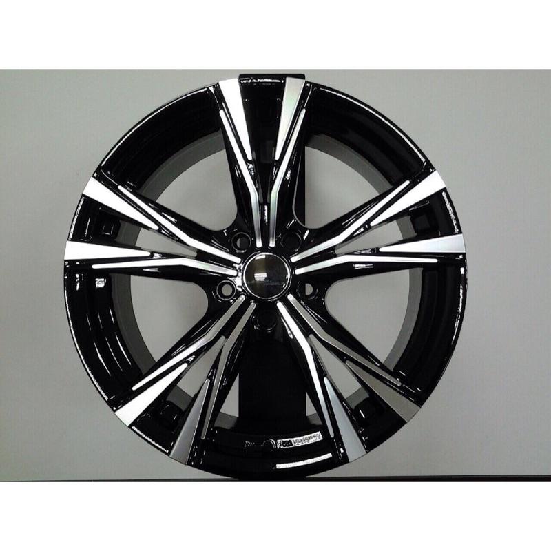 全新17~18吋114.3黑底拋亮變型金剛鋁圈 Toyota Nissan Honda 三菱 luxgen 適用