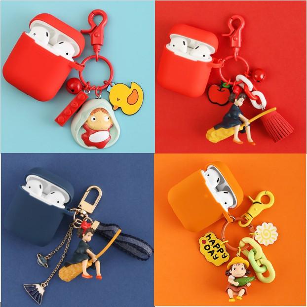 宮崎駿系列 Airpods pro 保護套 Airpods2保護套 防摔 耳機保護套 公仔 吊飾 airpods1保護套
