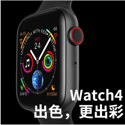 繁体中文 新款W34智慧手錶 藍牙4.0通話 心率心電血壓監測 計步1.54全觸大屏智慧手錶#14735