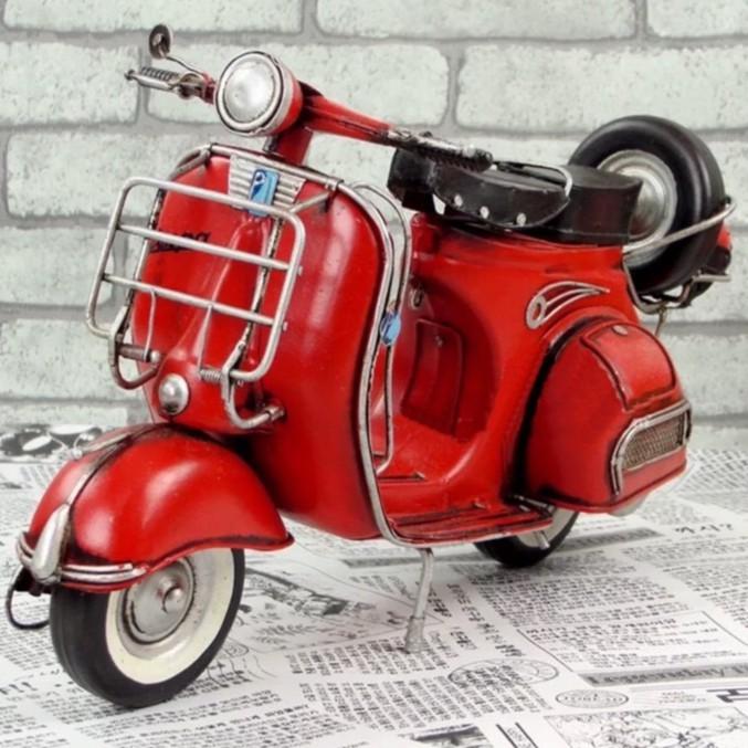 1959年義大利 Vespa GS150 復古白鐵 手工製作 模型