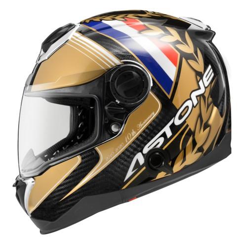 【金剛安全帽】ASTONE GT1000F 10周年紀念配色 買就送手套 紀念款 碳纖維 全罩 安全帽 內墨鏡 雙D扣