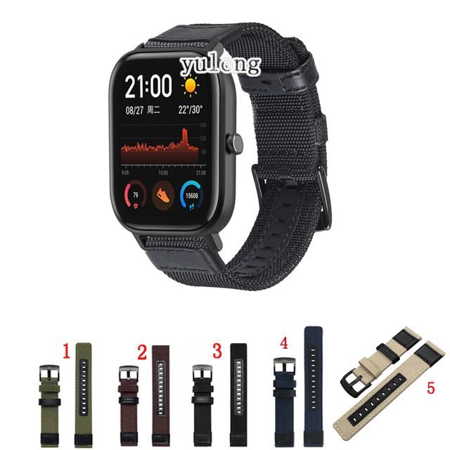 Huami Amazfit Gts 2 Gts2 Mini 的編織尼龍錶帶錶帶