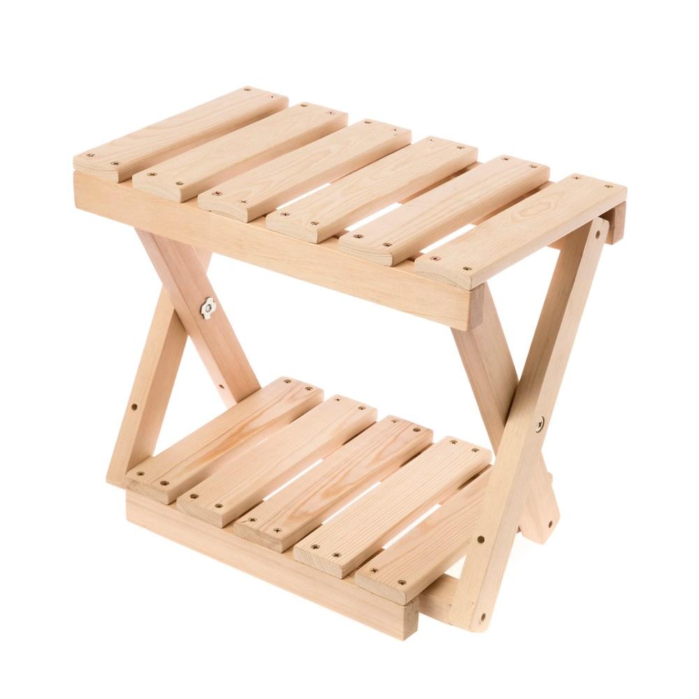 DIY材料包 桌上型松木雙層置物架