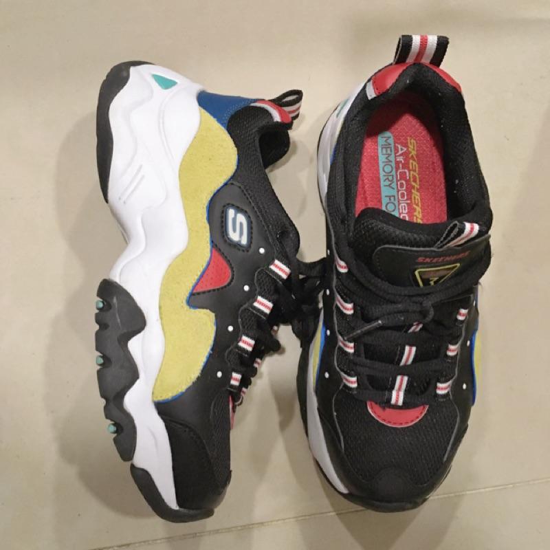 (二手) SKECHERS 老爹鞋 D'LITES 3.0 - 12955BKYL