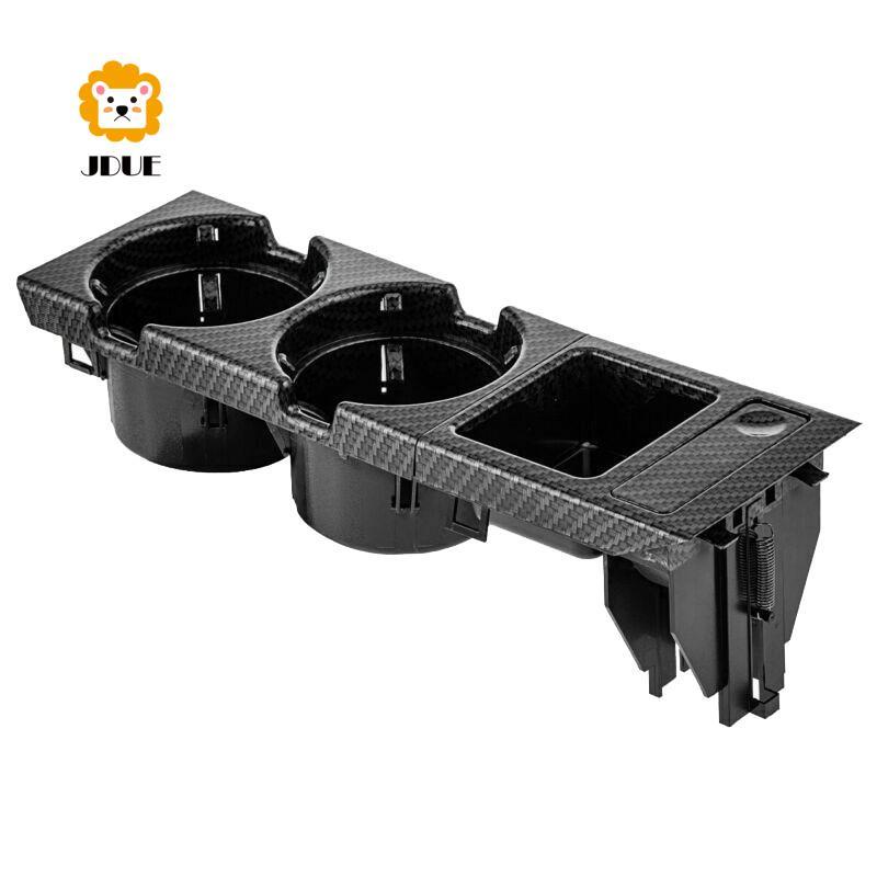 51168217953適用於BMW 3系列E46 318I 320I 98-06碳纖維中控台水杯架硬幣收納盒