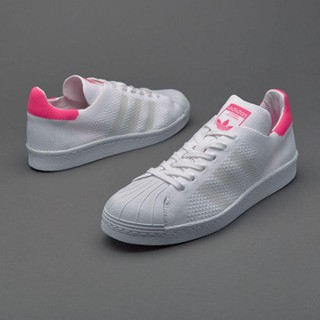 Adidas Originals Superstar 80S Primekni 女鞋 白桃紅 BB5095