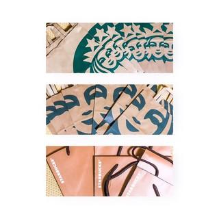 星巴克紙袋 /  牛皮紙袋 Starbucks 咖啡紙袋 品牌紙袋 包裝袋 咖啡色紙袋 提袋 環保袋 臺北市