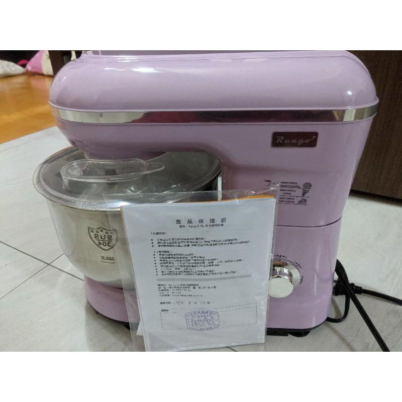 Rungo 5.5L多功能抬頭式揉麵攪拌機-粉紫色