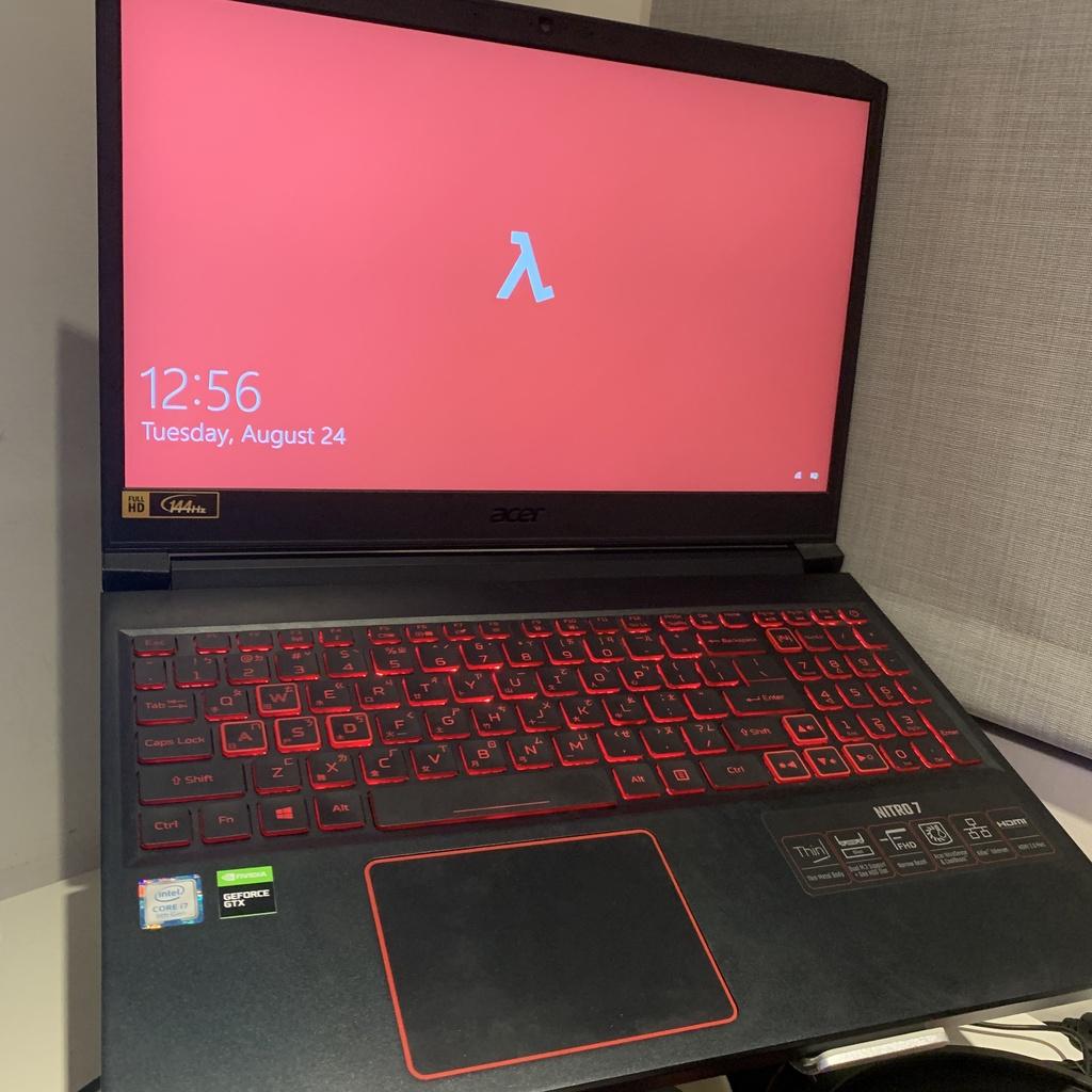 二手-Acer Nitro 7 電競15吋512gb GTX1660 ti i7-9750H