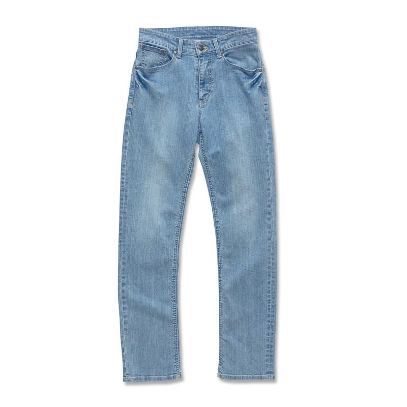 【ERSS】中直筒牛仔褲 - 男 (長版 85cm) 石洗藍 S40053