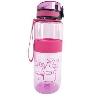 小禮堂 Hello Kitty 透明隨身冷水瓶 運動水壺 塑膠水瓶 兒童水壺 800ml (2款隨機) 臺北市