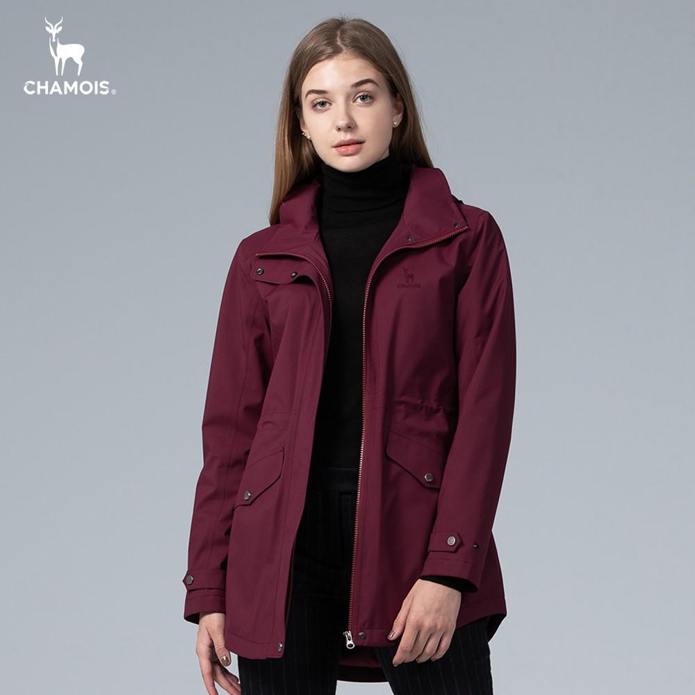 【Chamois加摩仕】石墨烯 x Damas-Tex達美斯特 商務機能修身風衣外套 (棗紅色)