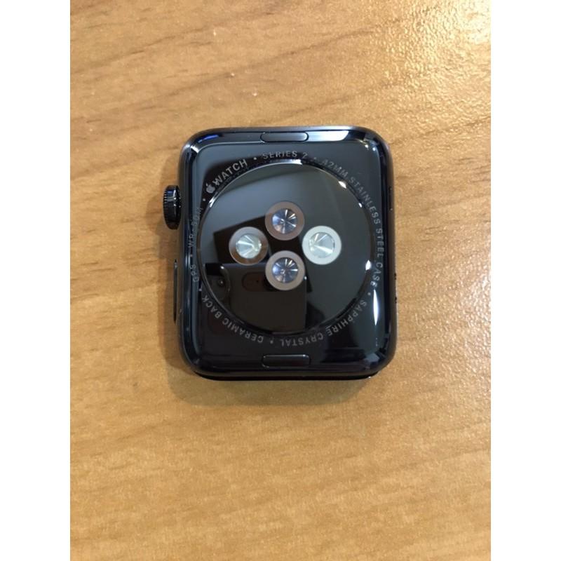 [降價!] 二手 Apple watch series 2 2代 42mm 不鏽鋼 太空黑 附錶帶