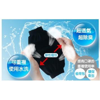 【好厝邊】口罩防護套 最強抗菌+透氣除臭 竹炭防塵套  重複用 可水洗 延長醫療口罩時效 台灣製口罩套 黑色