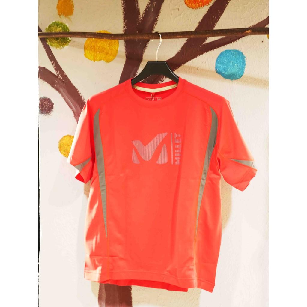 MILLET-ACTIVE 短袖排汗衣-紅