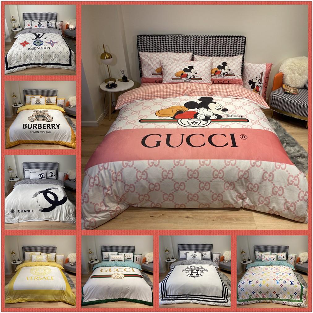 大牌床包 Gucci LV chanel 法蘭絨床包 標準雙人 雙人加大床包組 床包四件組 被套組 床罩 法蘭絨床單