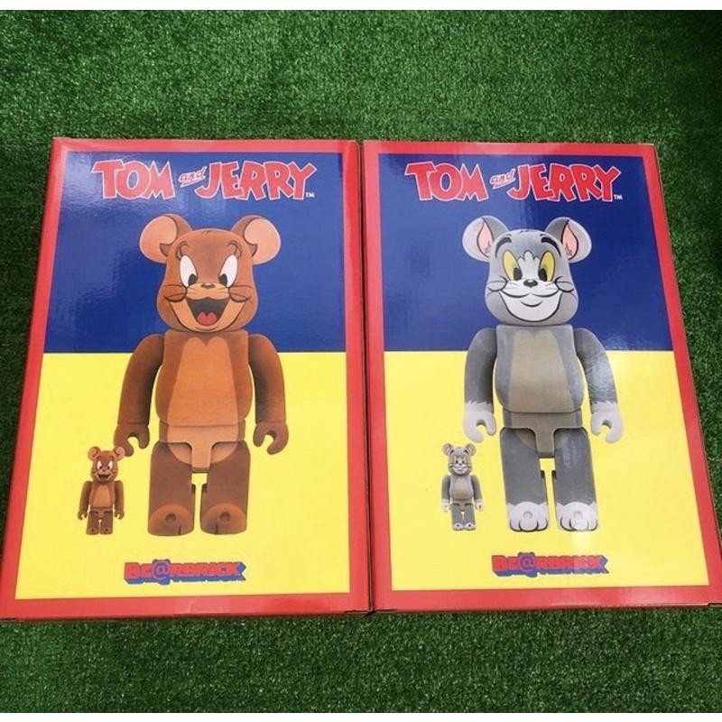 全新未拆正品 BE@RBRICK BEARBRICK 500% 庫柏力克熊 植絨湯姆貓與傑利鼠 Tom & Jerry