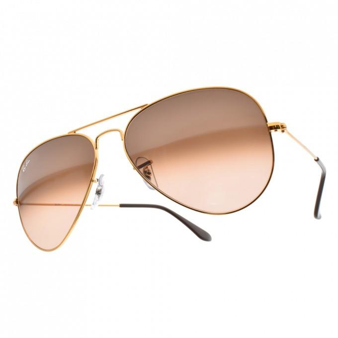 RayBan雷朋 太陽眼鏡 RB3025 9001A5 經典飛官款-金橘眼鏡