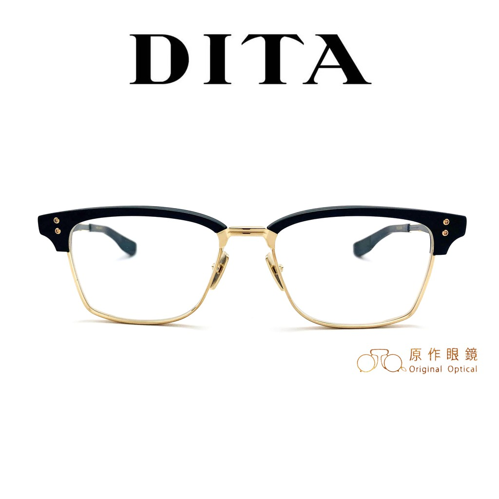 DITA 光學眼鏡 STATESMAN SIX DTX132 BLK GLD (黑/金) 經典眉框款 【原作眼鏡】