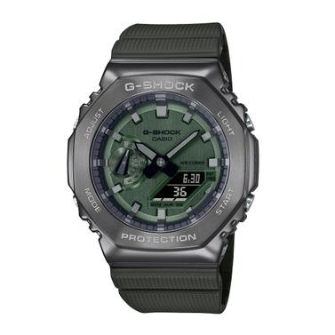 【山姆大叔工作坊】CASIO G-SHOCK 簡約獨特金屬質感八角型錶殼 GM-2100B-3A
