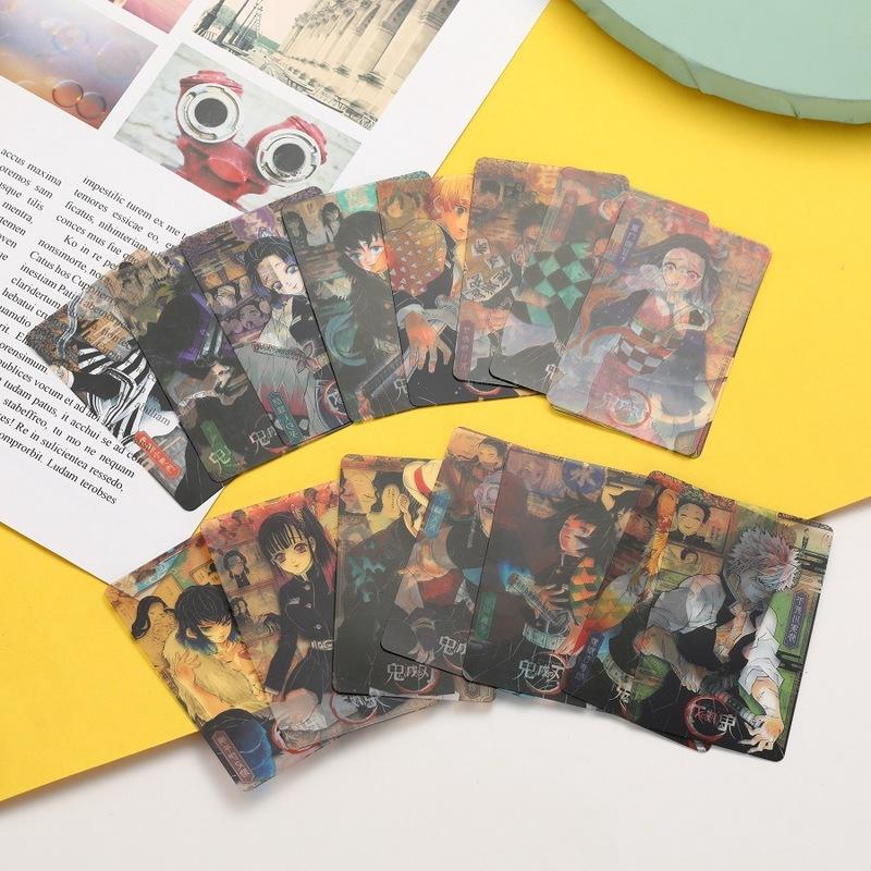 🌱香菜醬🌱鬼滅之刃卡片人物卡片 PVC卡 灶門炭治郎禰豆子蝴蝶忍透明卡片 照片 16張套裝 卡片 禮物