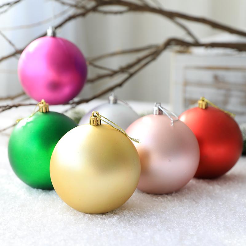 【聖誕節裝飾】聖誕節裝飾品啞光聖誕球聖誕樹掛件商場櫥窗布置吊飾3-60cm聖誕球【滿599出貨】